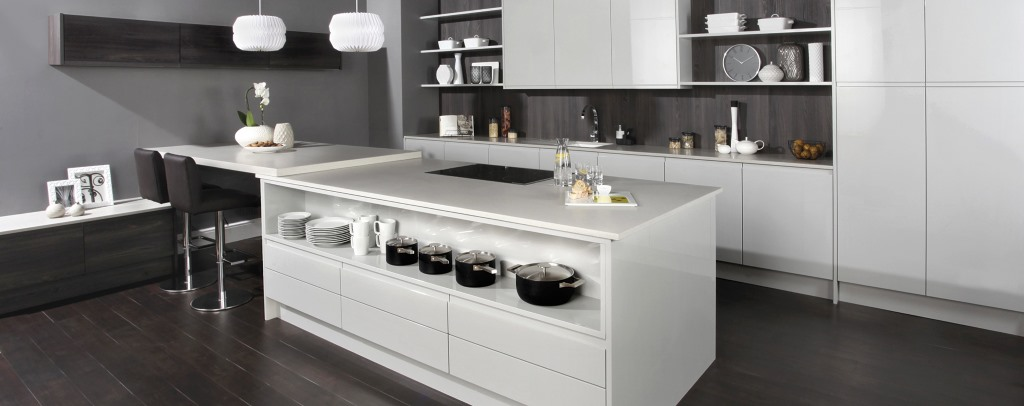 Malmo gloss kitchens from Burbidge
