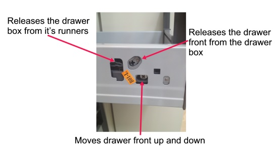 How to adjust a kitchen drawer