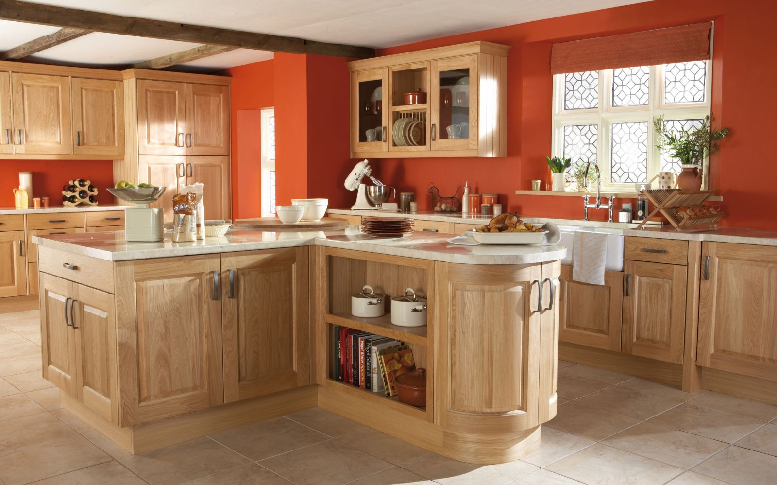 Kinsale Natural Oak Made Entirely From Solid Oak The Kinsale Kitchen . Full resolution‎  image, nominally Width 1600 Height 998 pixels, image with #A94022.