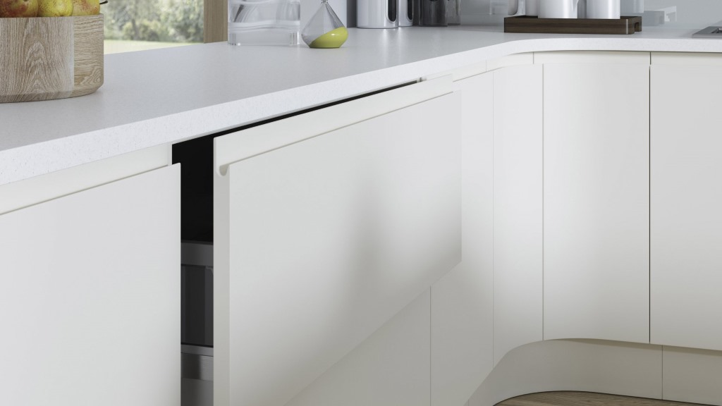Aconbury porcelain handleless kitchen