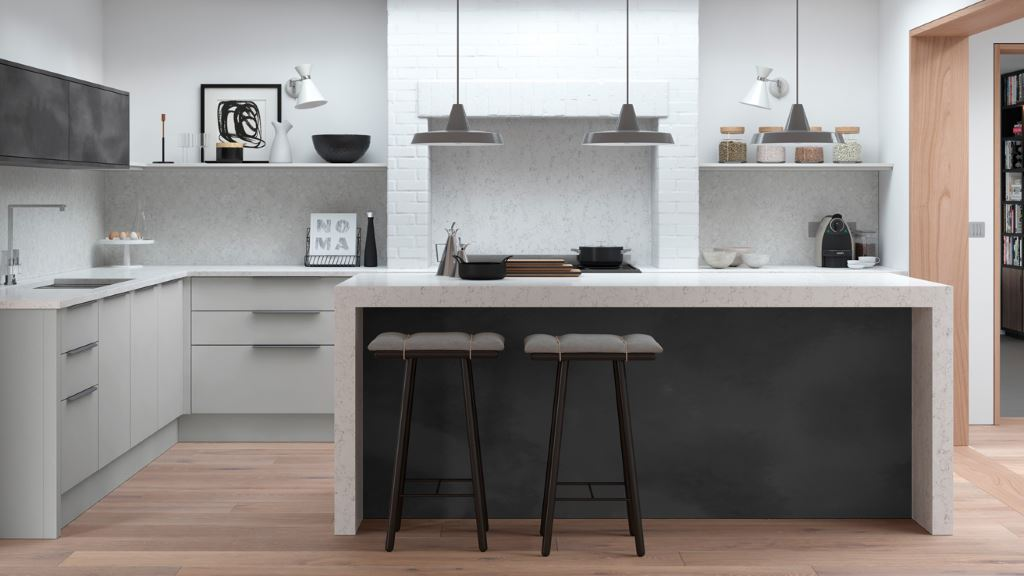 Cosdon Matt Kitchens Kitchen Units Online - Colours to go with light grey kitchen units