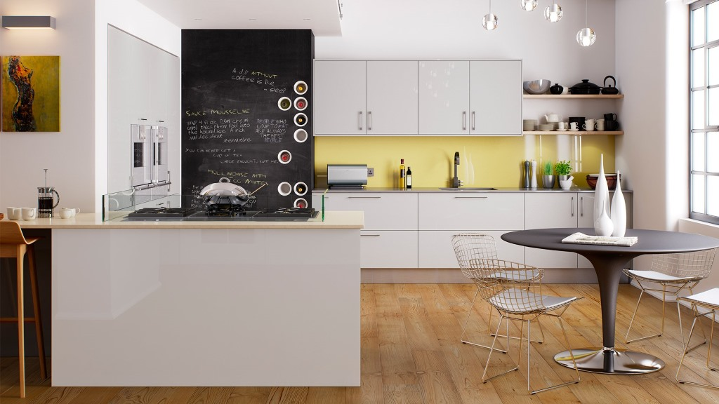 Haddington grey high gloss kitchen