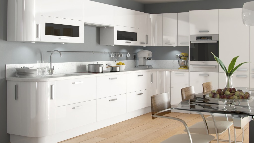 Haddington white high gloss kitchen