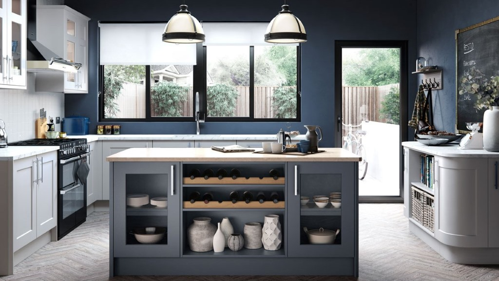 Hartside light grey shaker kitchen