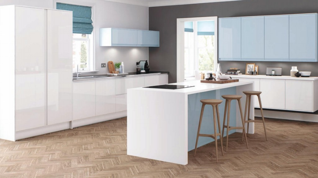 Welford Sky Blue kitchen