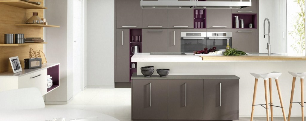 Porter painted gloss kitchens from Second Nature