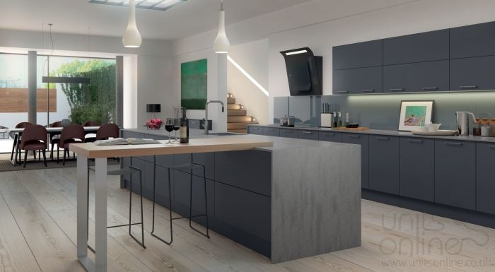 Imola anthracite modern kitchen