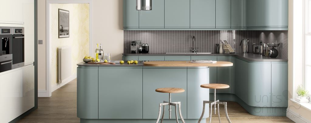 Lucente painted matt kitchen Fjord
