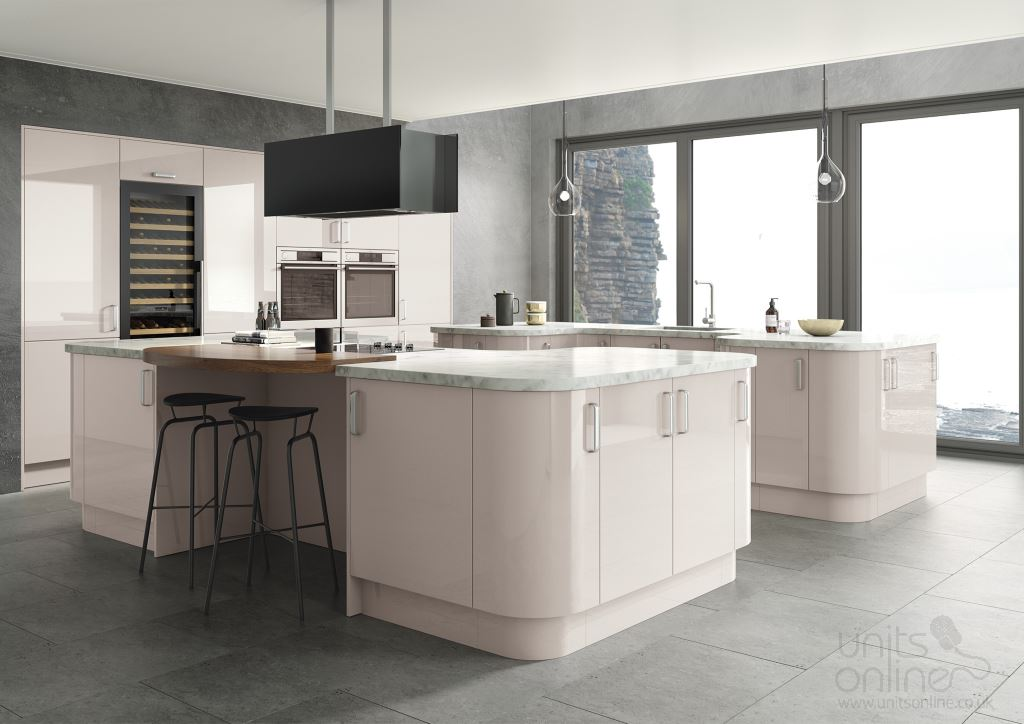 Lusso gloss cashmere kitchen