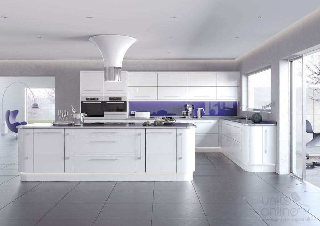 Lusso gloss white kitchen