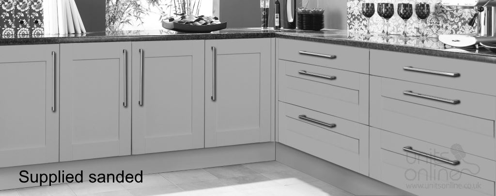 Sanded Oak Shaker kitchen