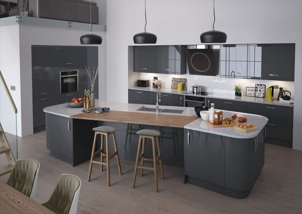 Vivo gloss anthracite  kitchen