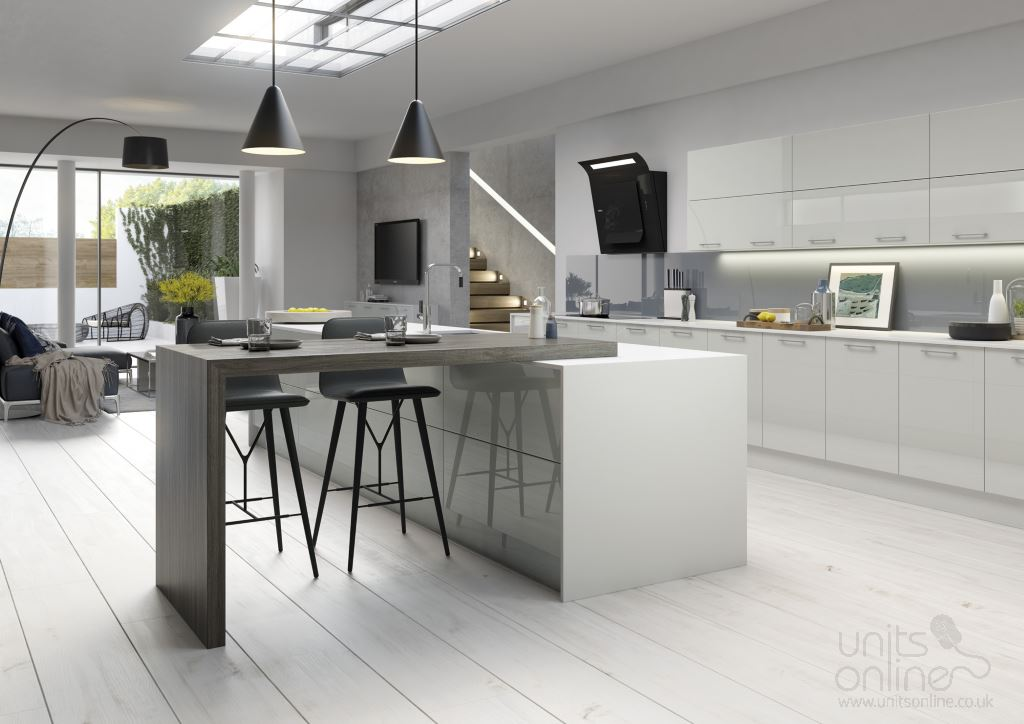 Vivo gloss light grey  kitchen