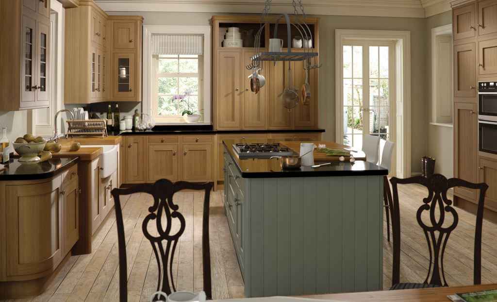 Iona light oak inframe kitchen