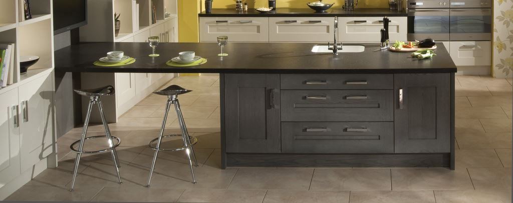 Clonmel stained anthracite modern kitchen