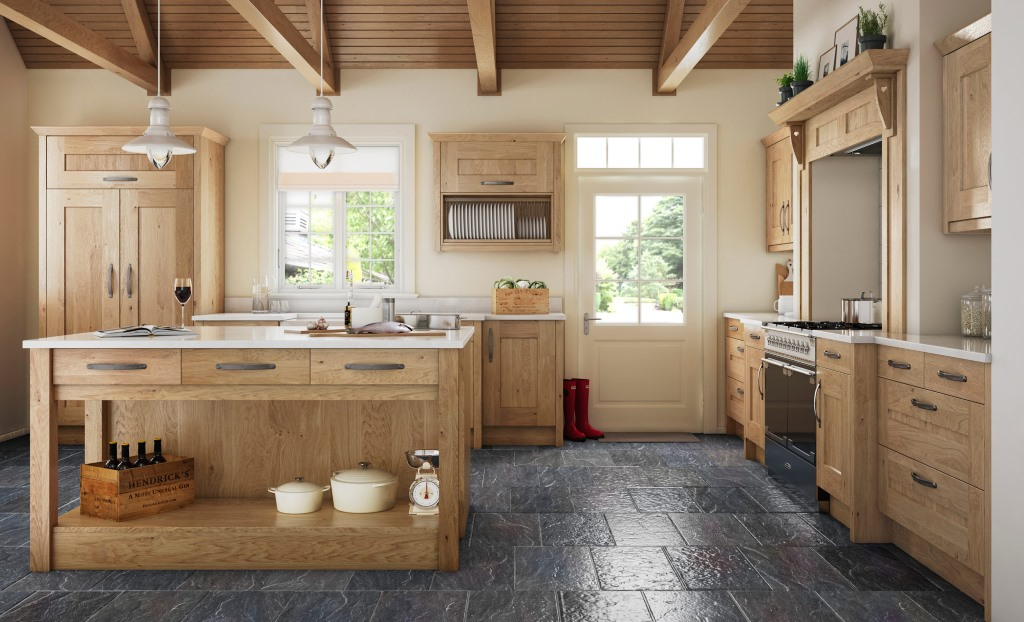 Clonmel knotty oak shaker kitchen