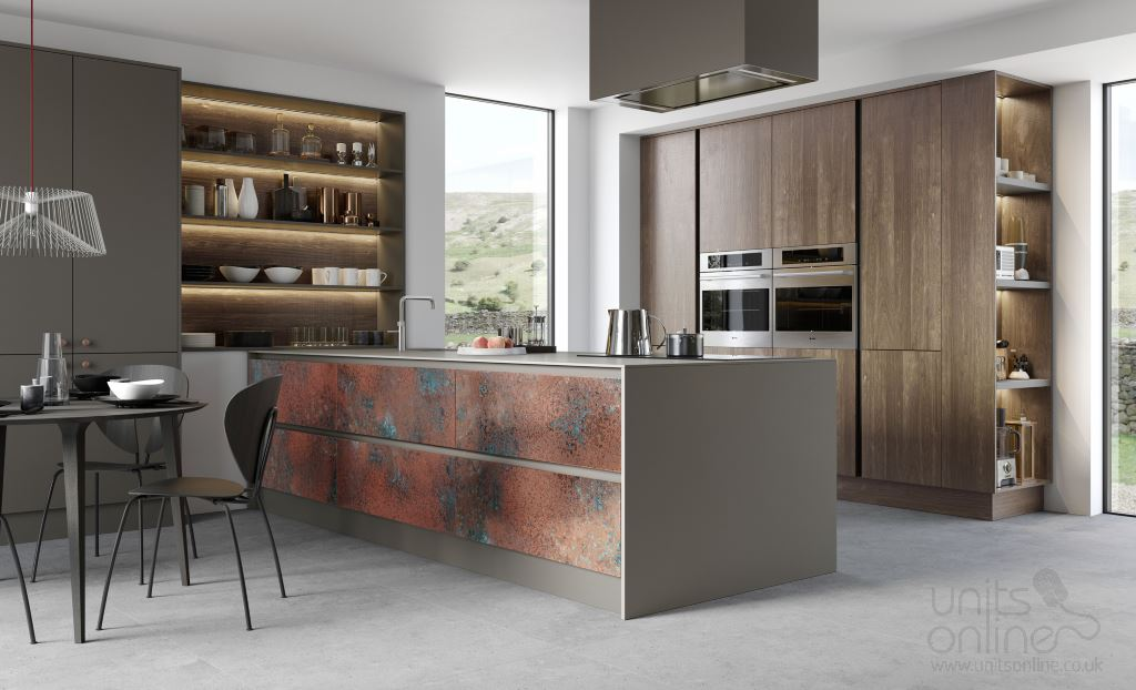 Ferro metallic modern kitchen from Kitchen Stori/Uform