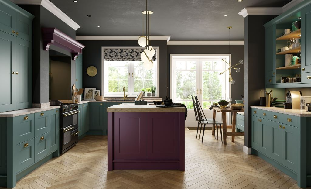 Florence beaded painted shaker kitchen