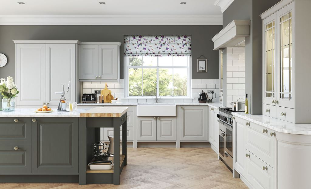 Jefferson light grey classic kitchen