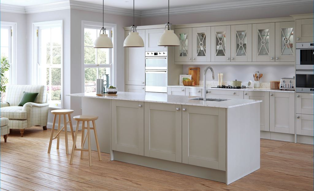 Madison light grey shaker kitchen