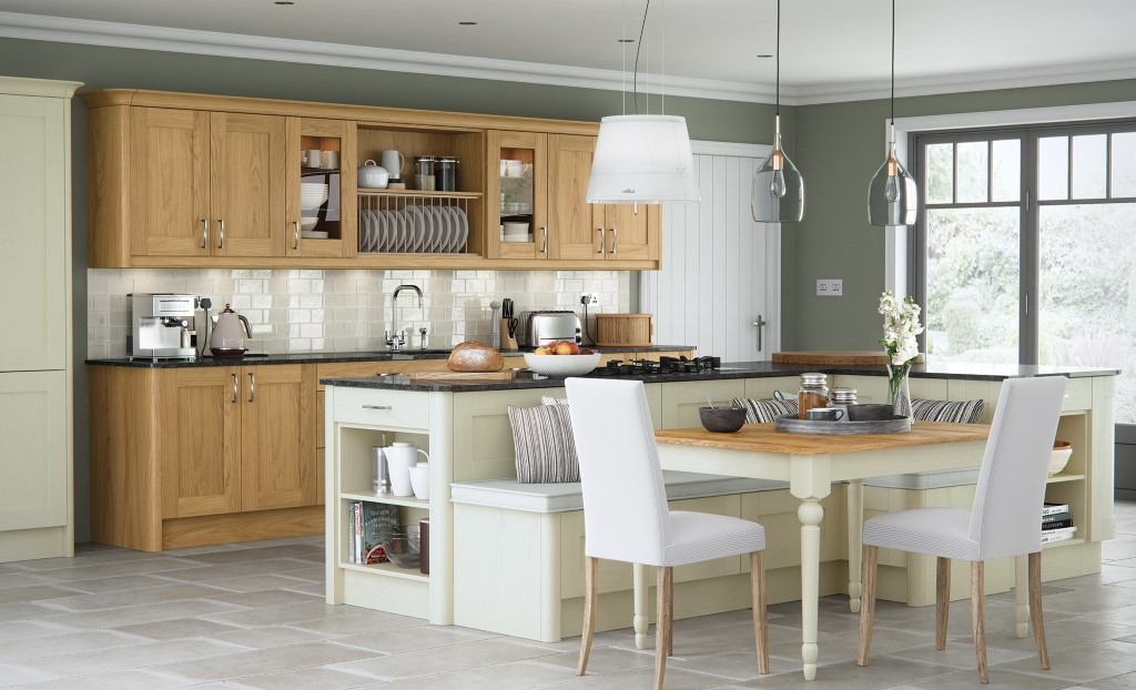Madison oak shaker kitchen