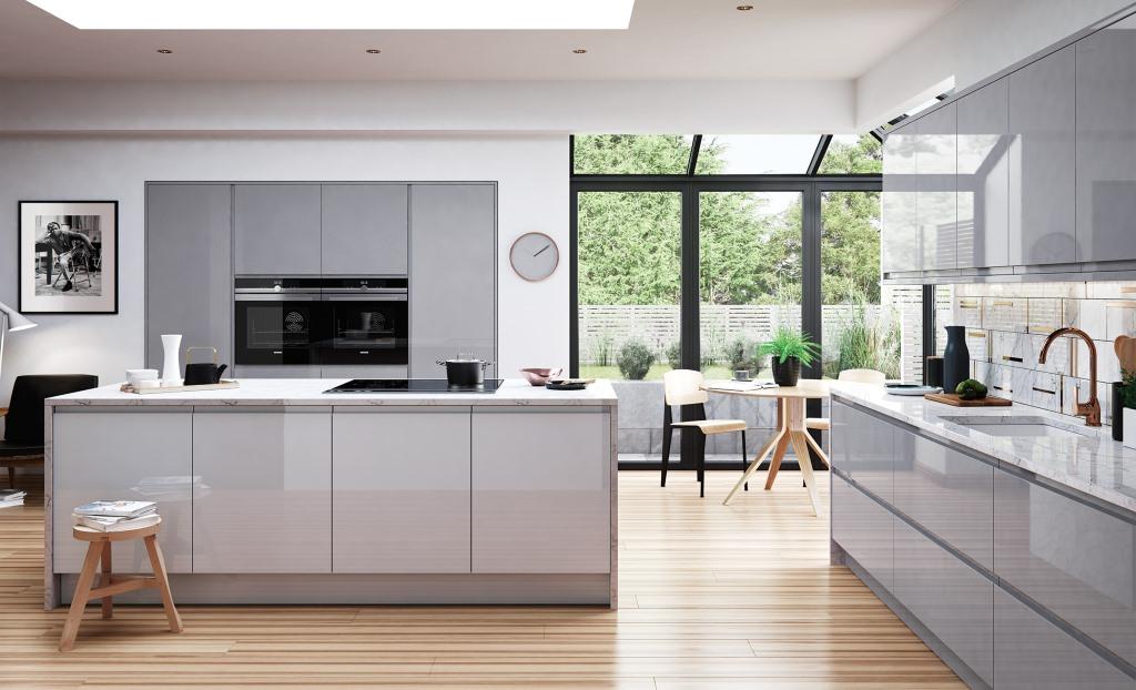 Good Strada Gloss Dust Grey Handleless Kitchen Part 15