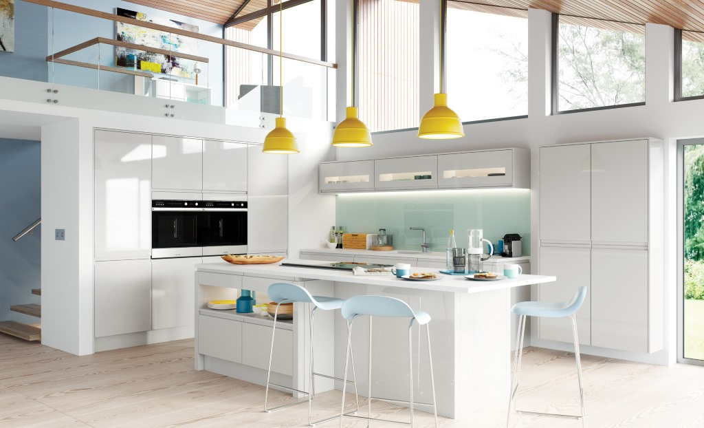 Strada gloss handleless kitchens Kitchen Units Online