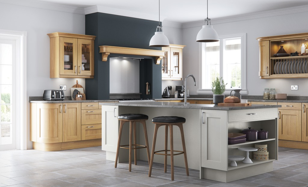 Wakefield light oak shaker kitchen