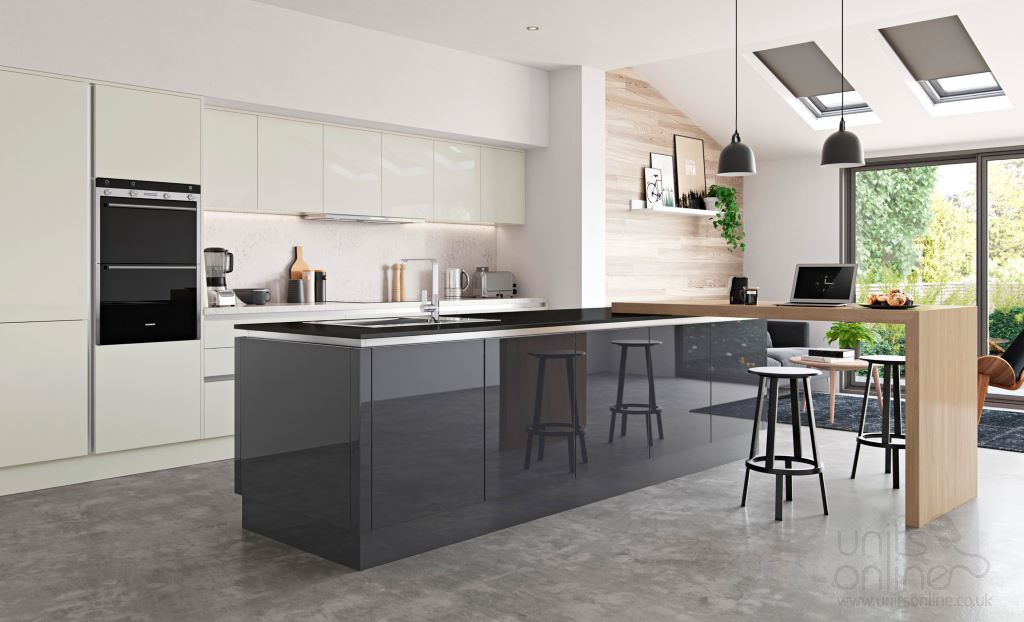 Zola gloss graphite kitchen