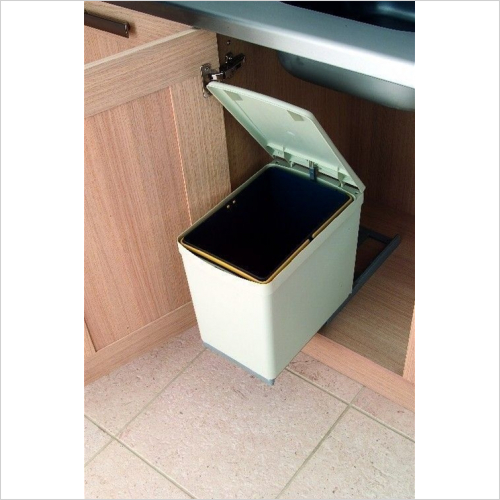 Fitted Bins - Pull-Out Waste Bin, 16 ltr, Plastic
