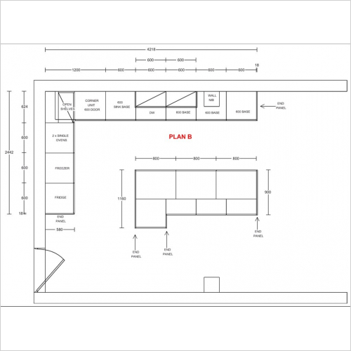 Plans - Kitchen Planning with 3 amendments