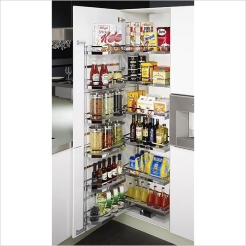 Kessebohmer - Arena Style Tandem Larder Unit, 500mm Wide, 1700mm High