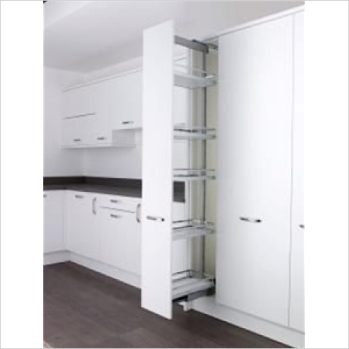 Kessebohmer - Arena Style, 500mm Full Extension Larder Unit, 1800-2200mm H