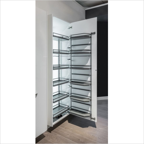 Kessebohmer - Style Tandem Larder Unit, 600mm Wide, 1700mm High