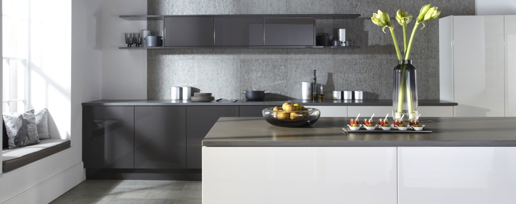 Otto gloss true handleless kitchens from Burbidge