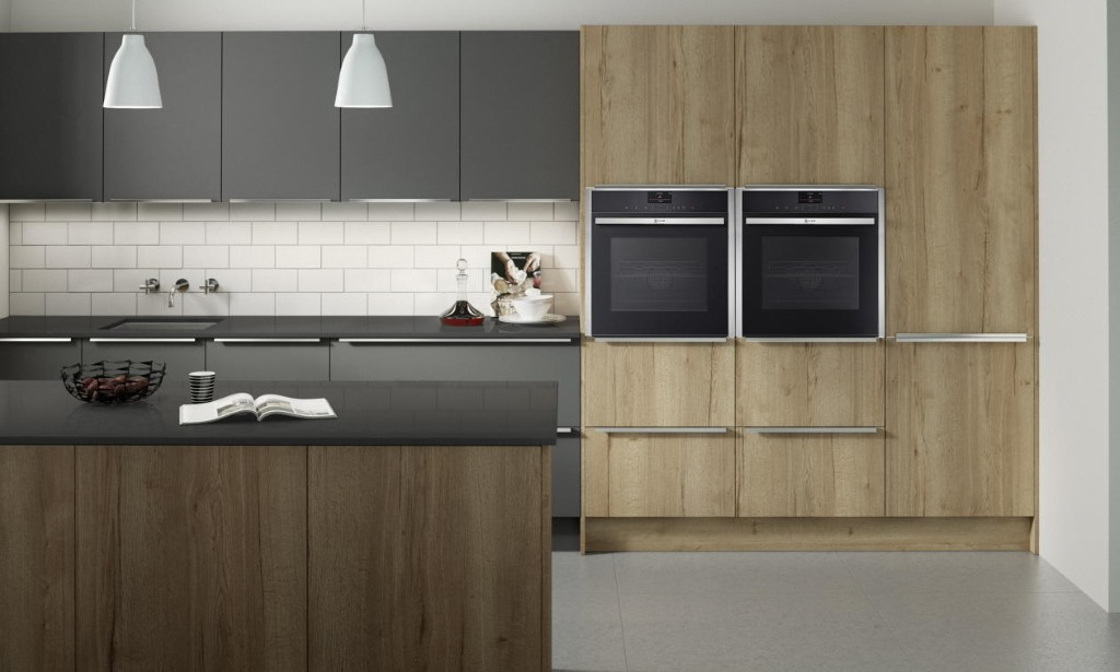 Feature slab modern kitchen from Second Nature