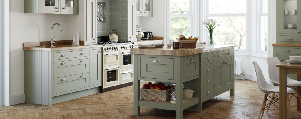 Baystone painted inframe kitchens from Multiwood