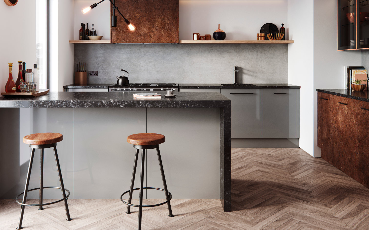 Cosdon painted kitchens from Burbidge