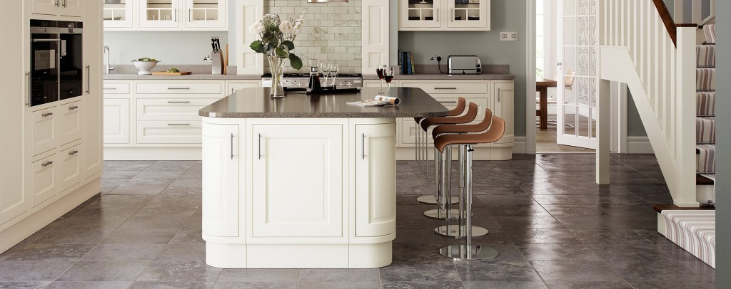 Eildon ash painted inframe kitchens from Multiwood