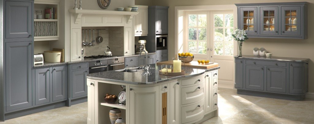 Tetbury painted inframe kitchens from Burbidge