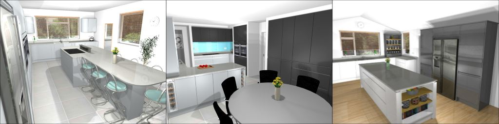 Combined kitchen planning image