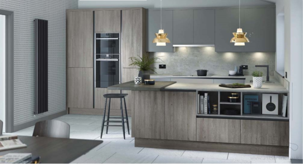 Alpina Timber Veneer Silver Oak Matt True Handleless