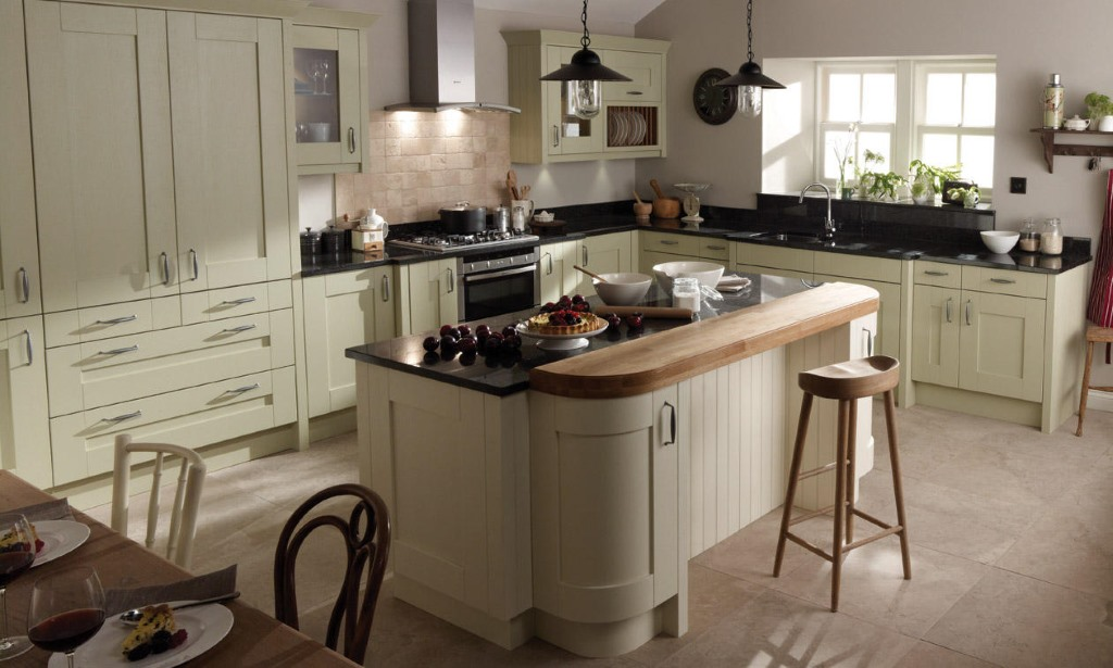 Milbourne alabaster gloss kitchen