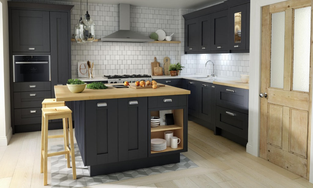 Milbourne Charcoal Shaker Kitchen