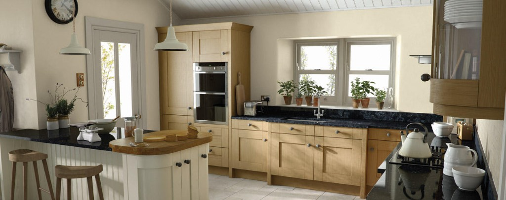 Milbourne oak shaker kitchen