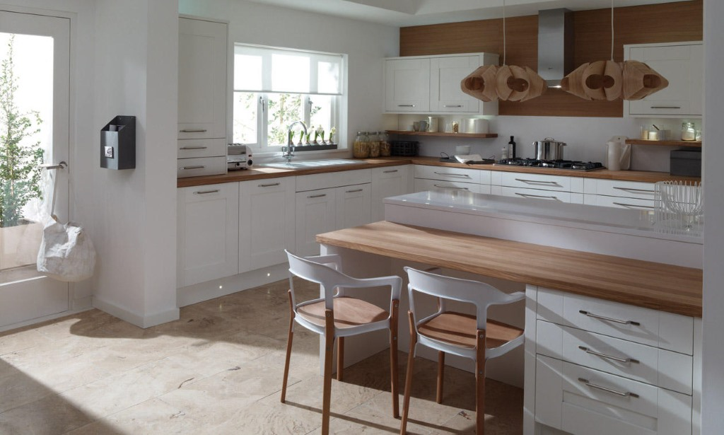 Milbourne painted shaker kitchen