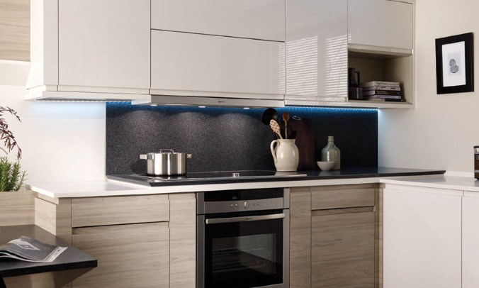 Remo elm handleless kitchen
