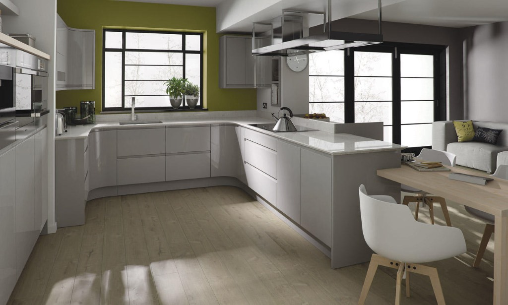 Remo dove grey gloss kitchen