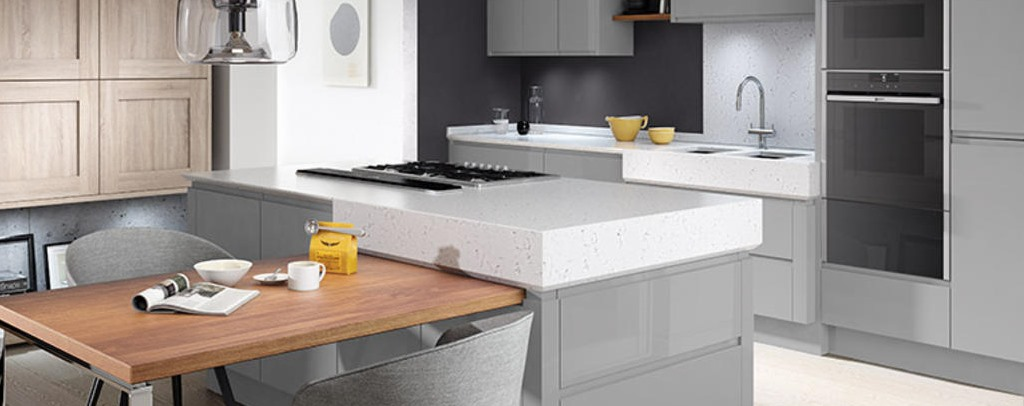 Remo silver grey gloss kitchen