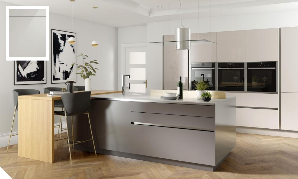 Unity Gloss Light Grey Kitchen